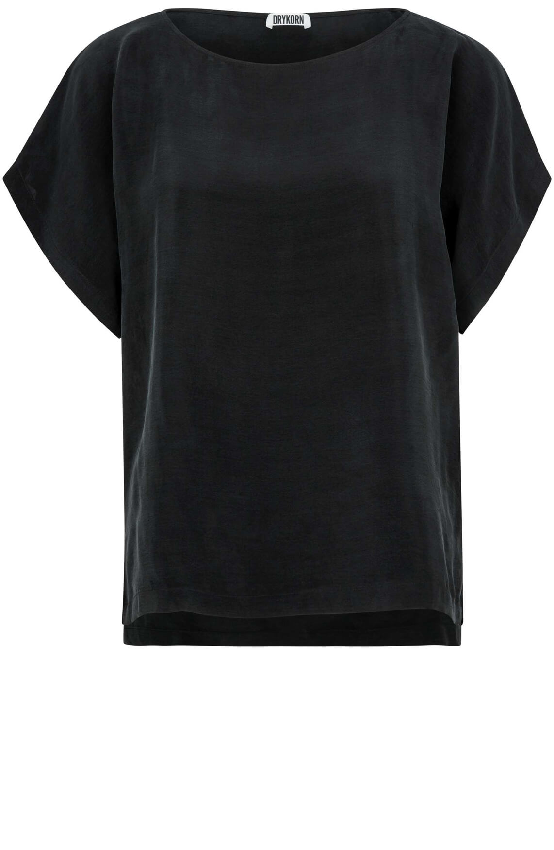 Drykorn Dames Somia cupro blouse zwart