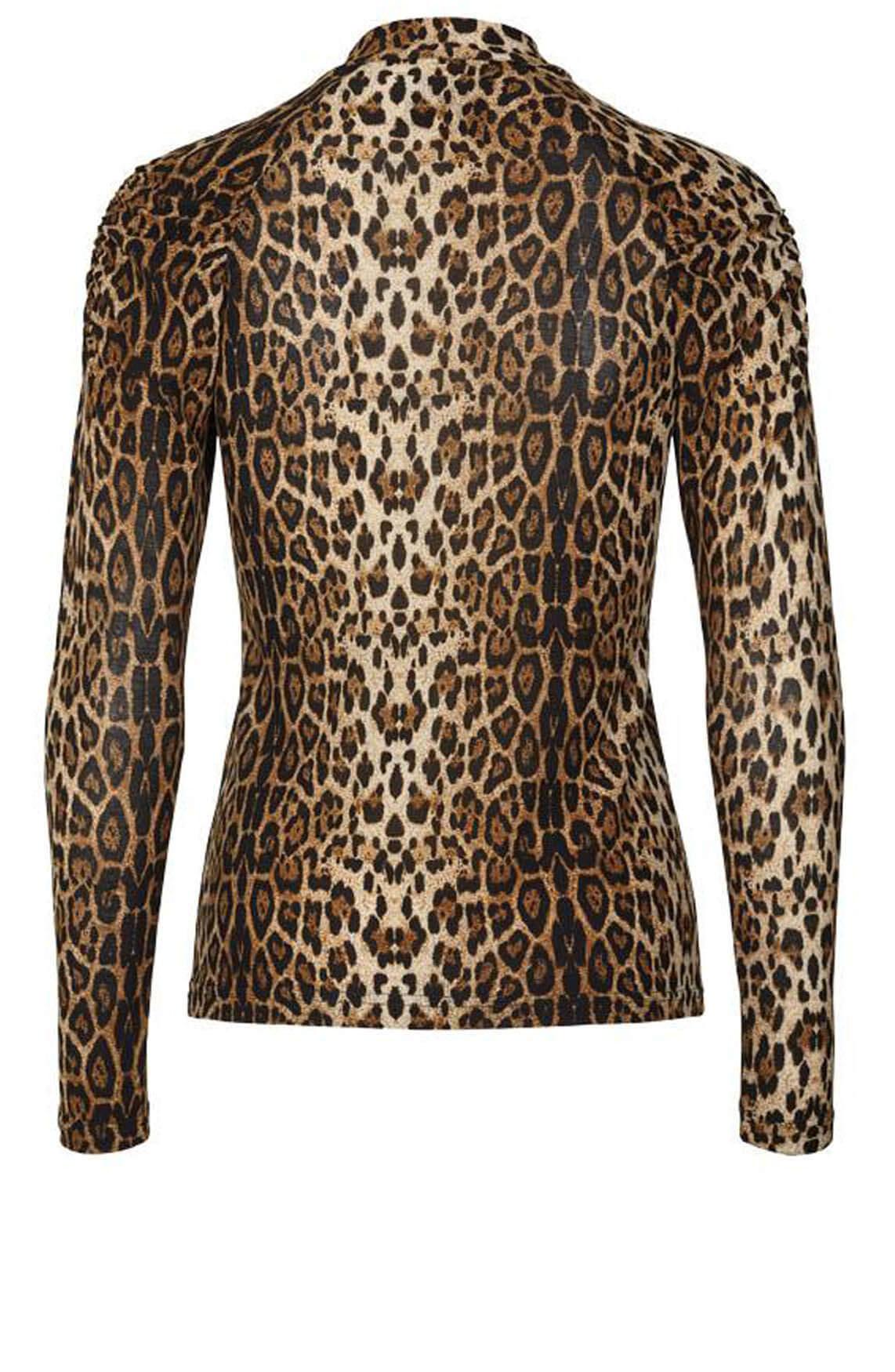 Lollys Laundry Dames Ellen leopard blouse Bruin