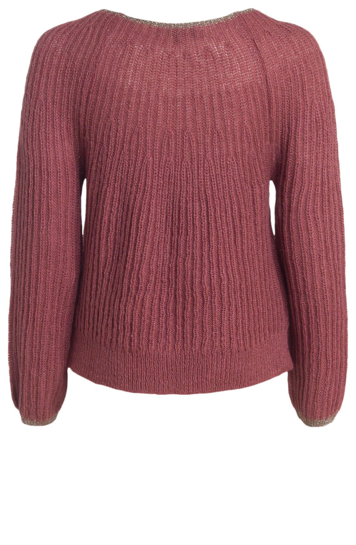 La Fée Maraboutée Dames Pullover met lurex roze