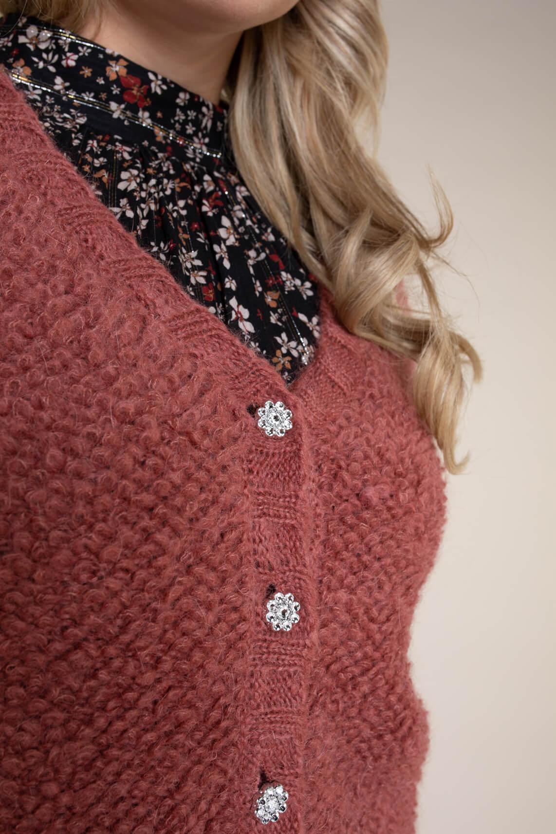 La Fée Maraboutée Dames Bouclé vest roze