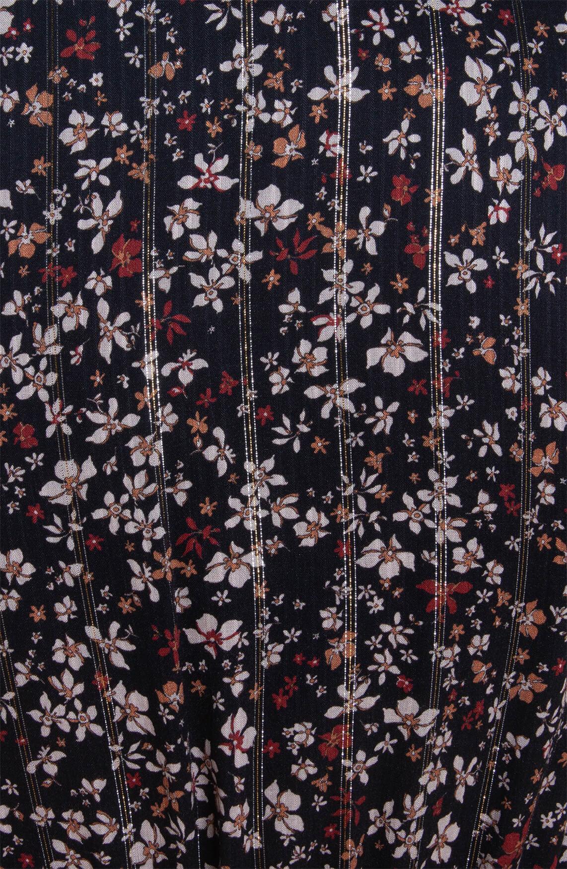 La Fée Maraboutée Dames Blouse met bloemenprint zwart