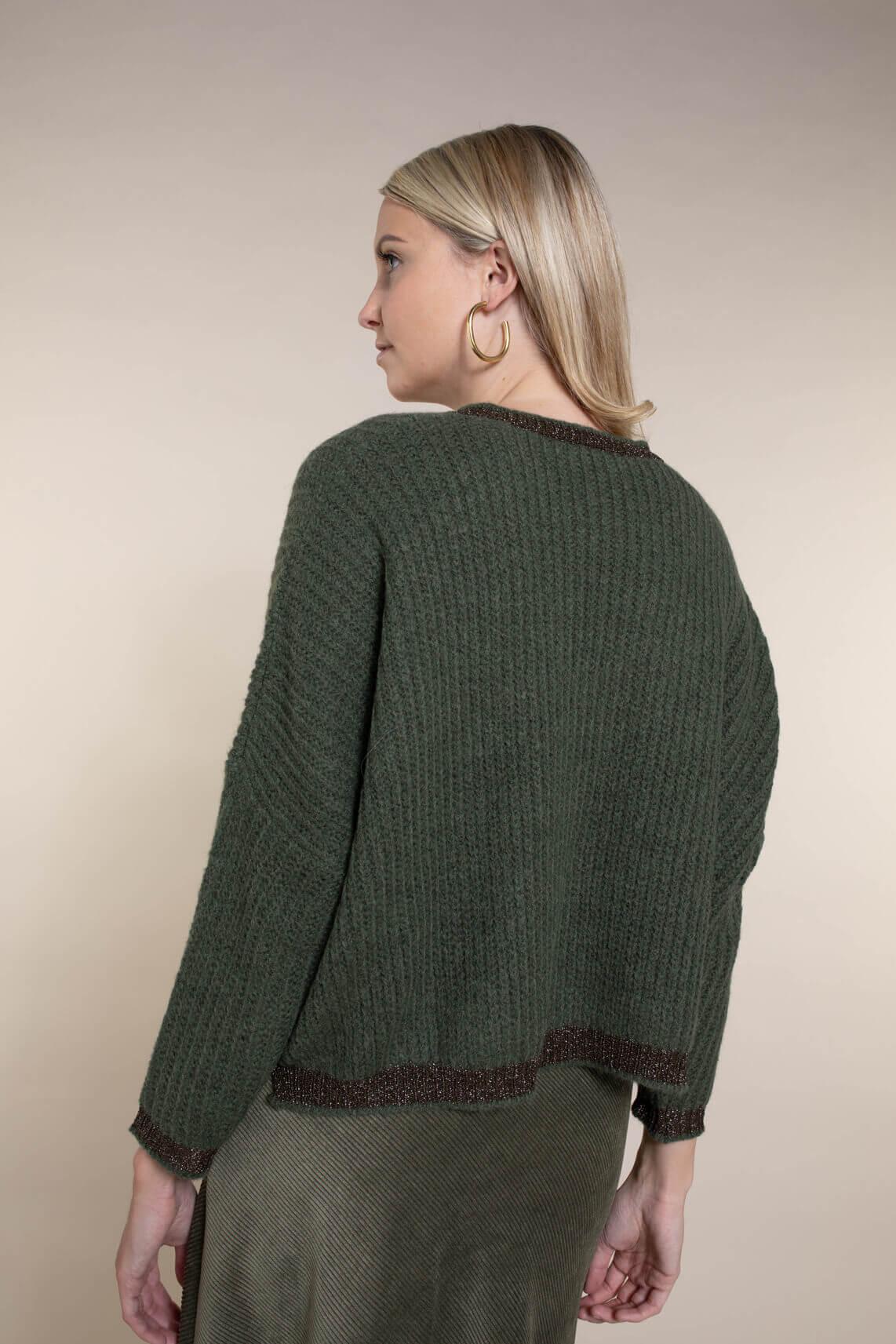 La Fee Maraboutee Dames Pullover met lurex Groen