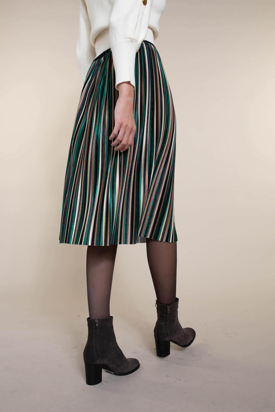 La Fée Maraboutée Dames Velvet plissé rok groen