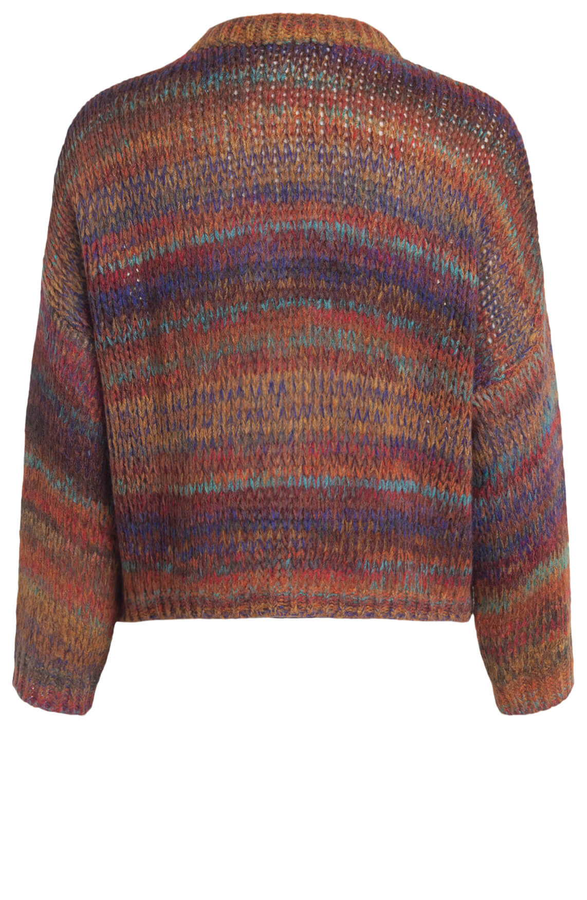 La Fee Maraboutee Dames Kleurrijke pullover Oranje