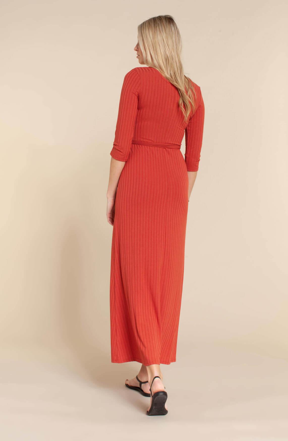 Object Dames Violetta maxi jurk Rood