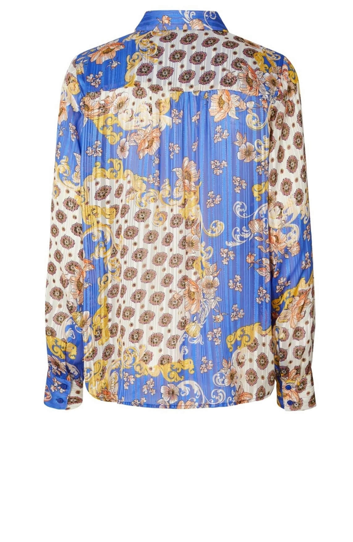 Lollys Laundry Dames Molly blouse Blauw
