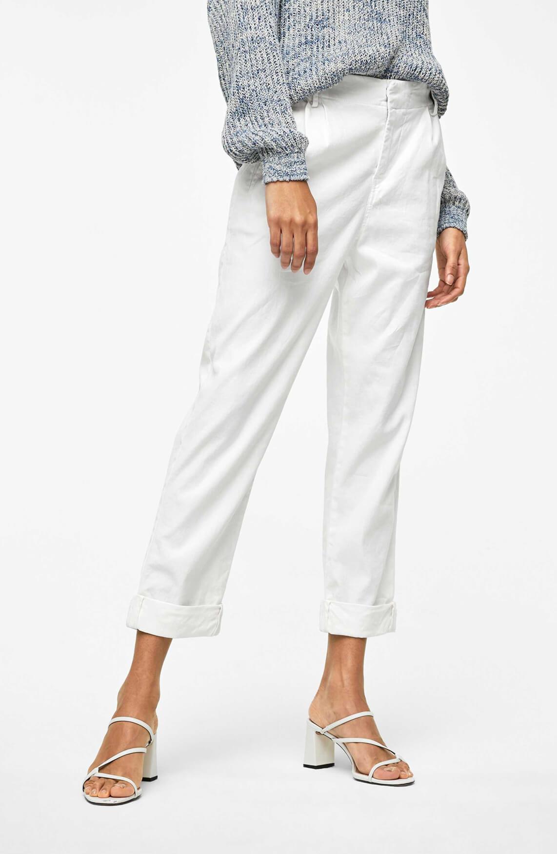 Drykorn Dames Dispatch linnen broek wit