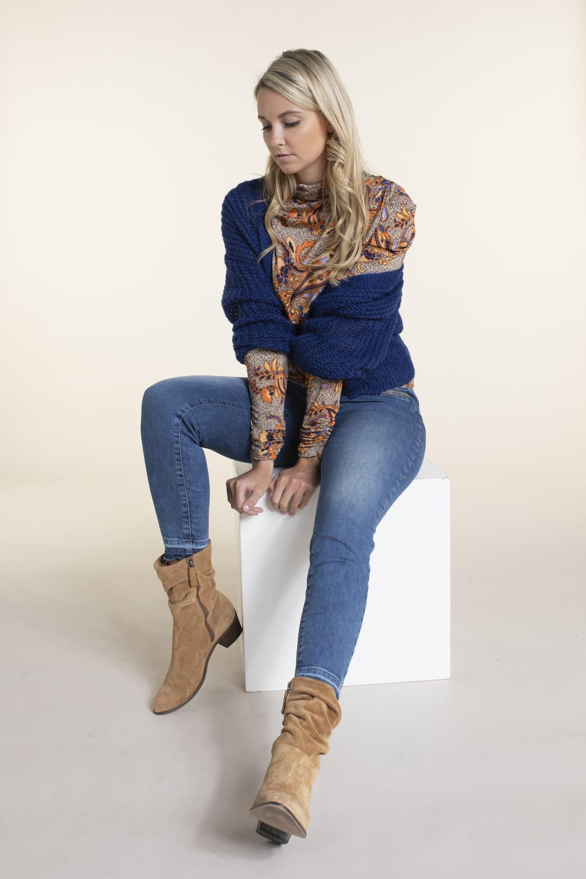 Anna Dames Paisley shirt Bruin