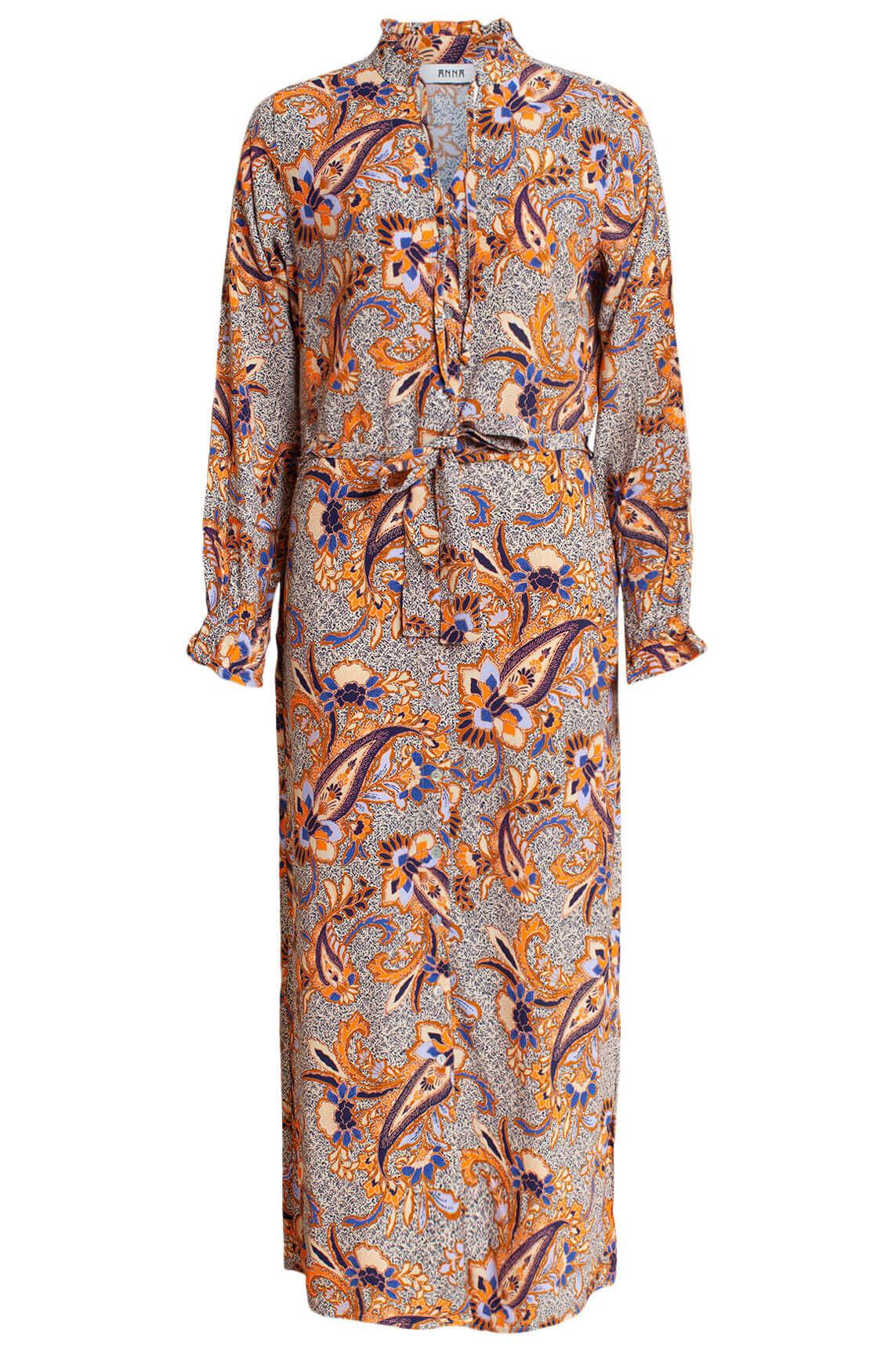 Anna Dames Paisley jurk Bruin