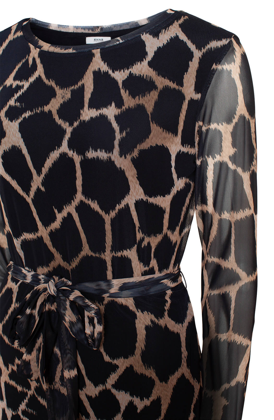 Anna Dames Mesh jurk zwart