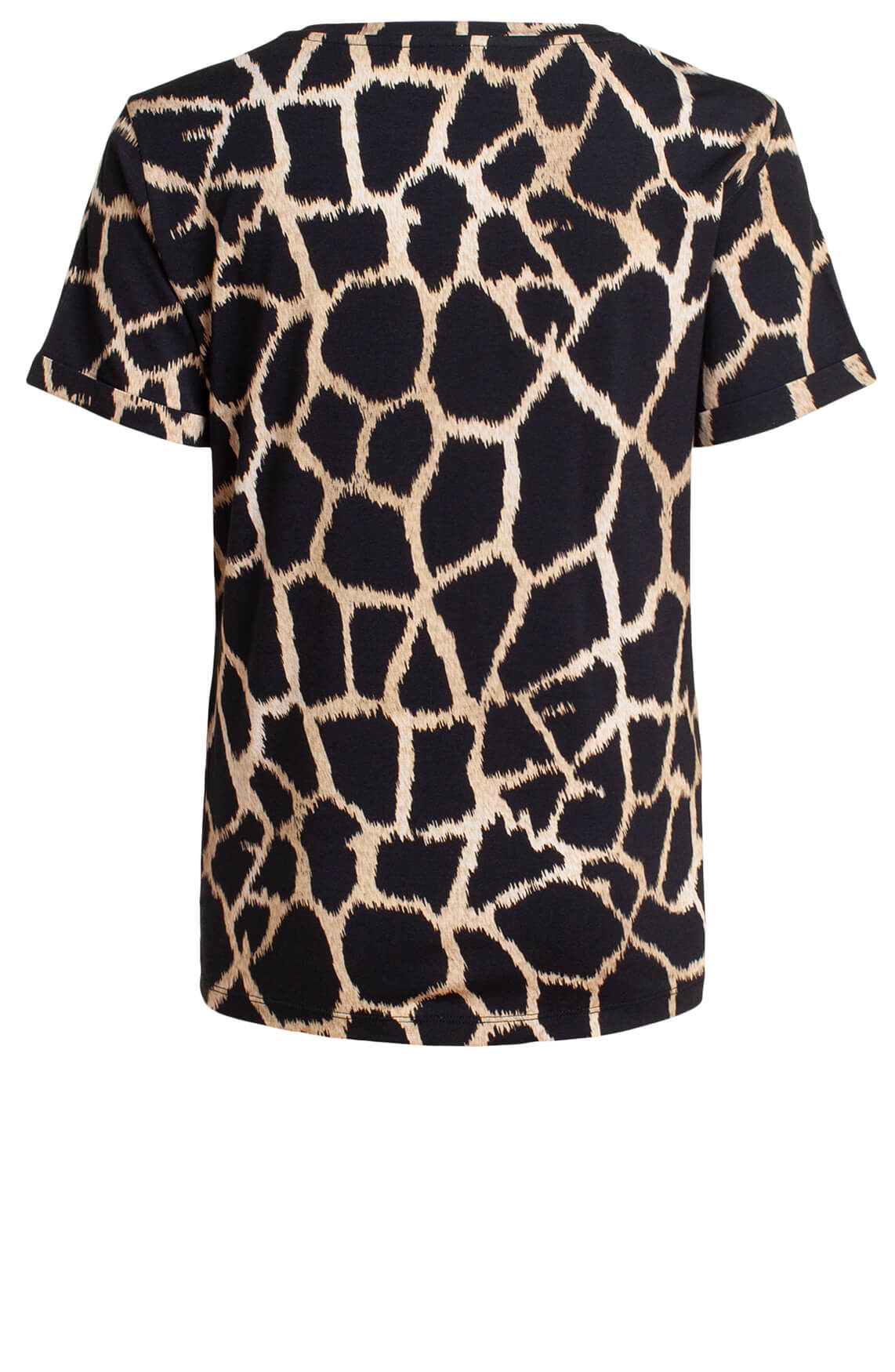 Anna Dames Shirt met animalprint zwart