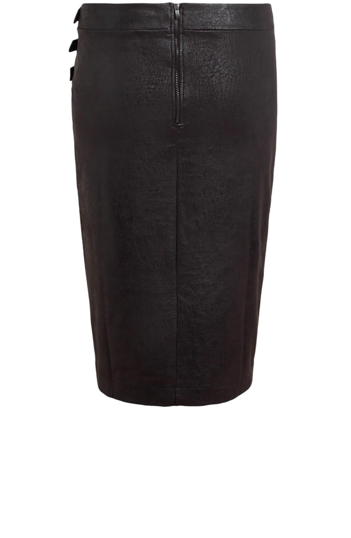 Anna Dames Rok met gespjes zwart