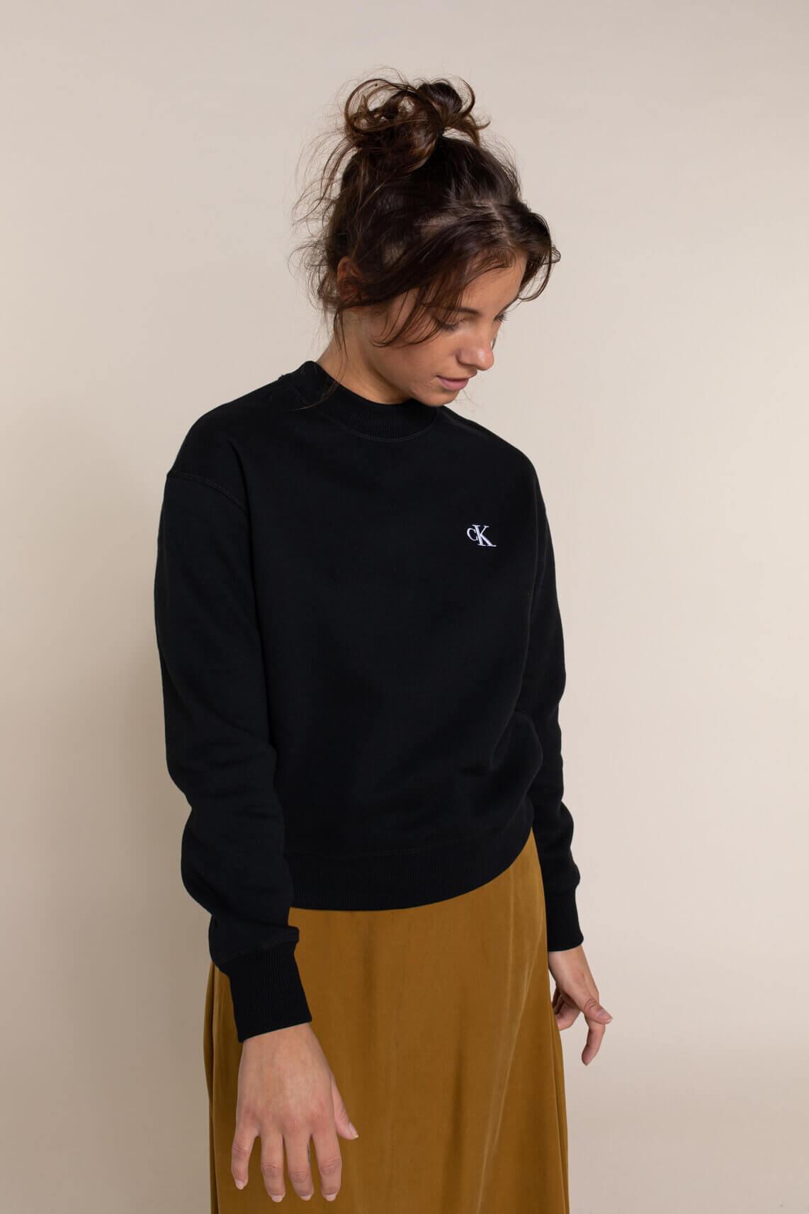 Calvin Klein Dames CK sweater zwart