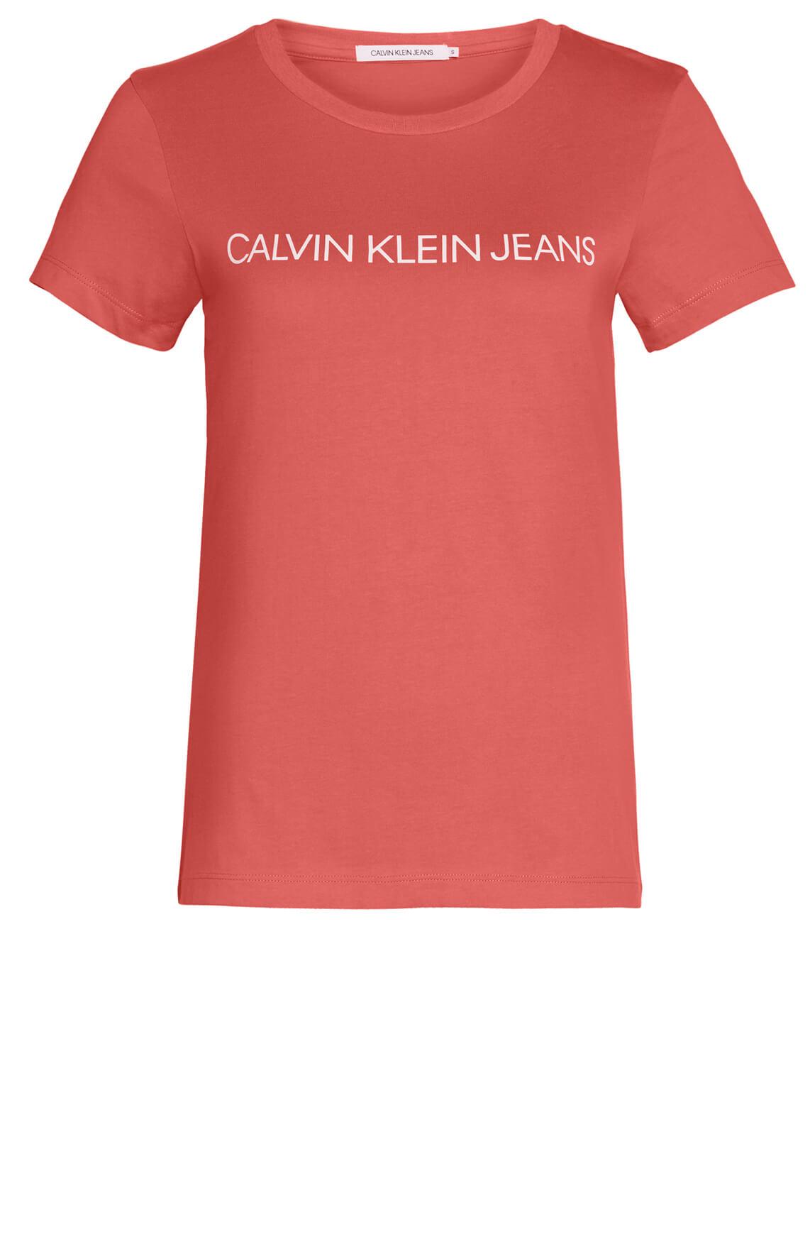 Calvin Klein Dames Shirt met logoprint roze
