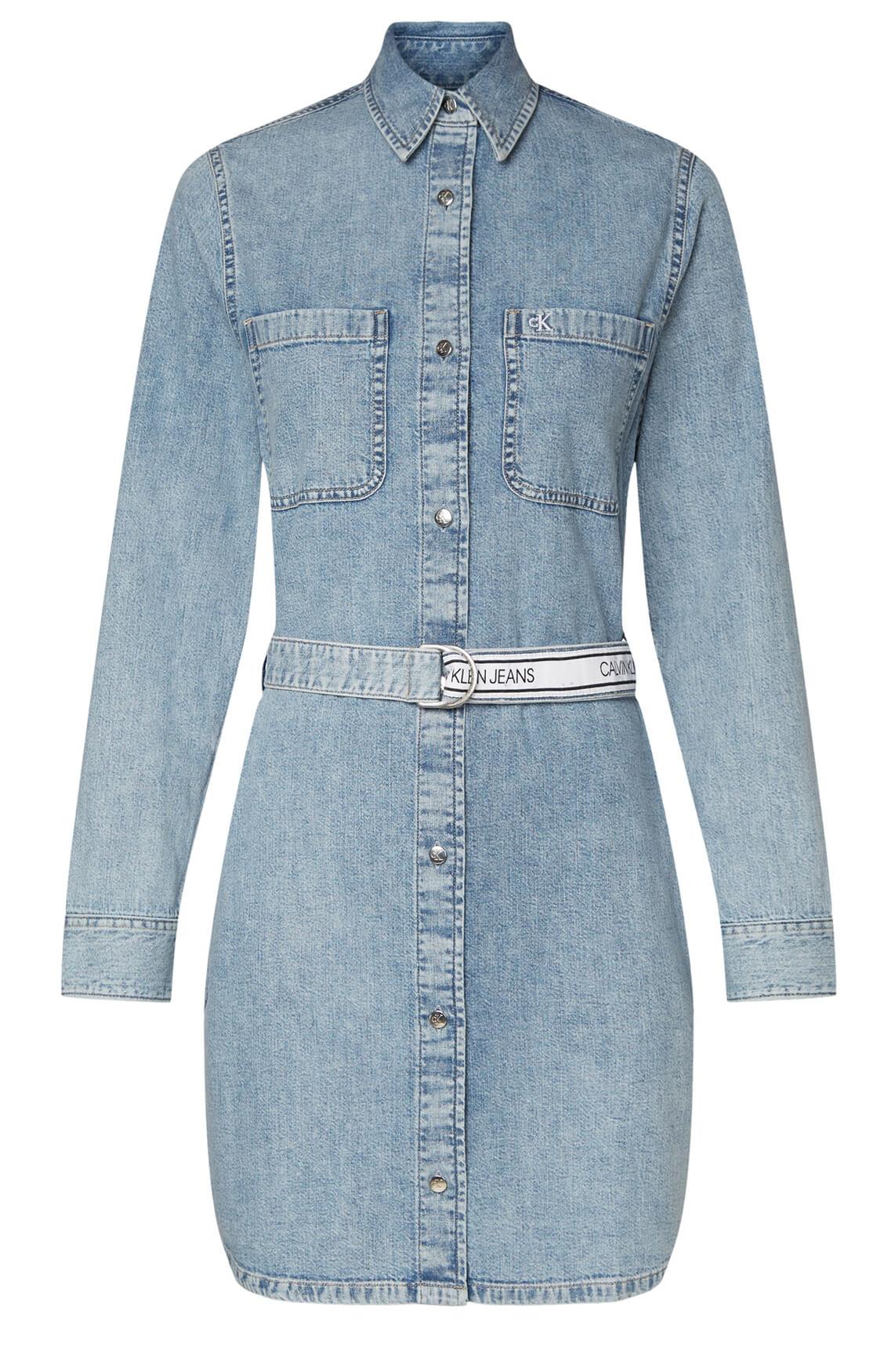 Calvin Klein Dames Denim jurk Blauw