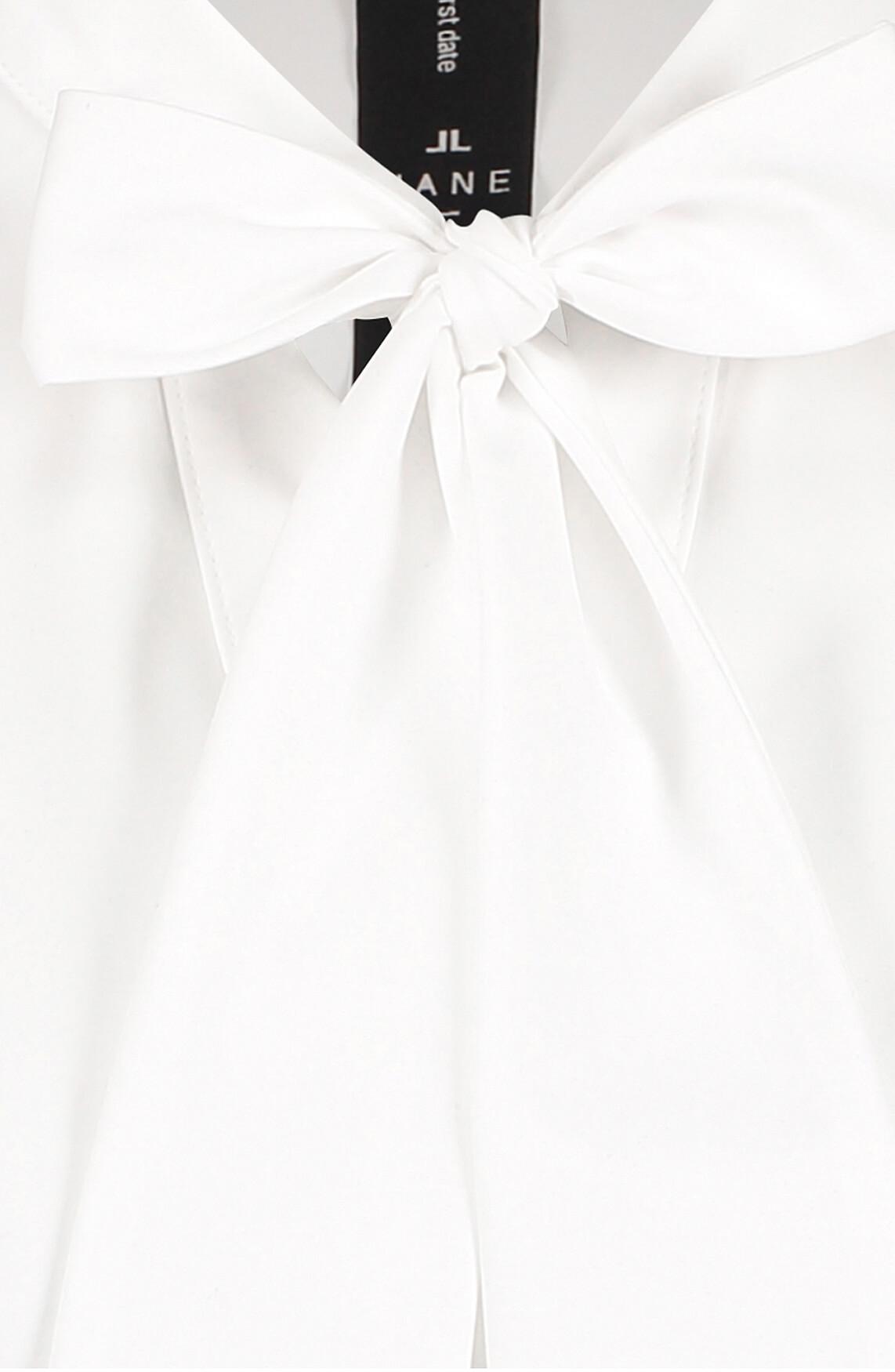 Jane Lushka Dames Corina strikblouse wit