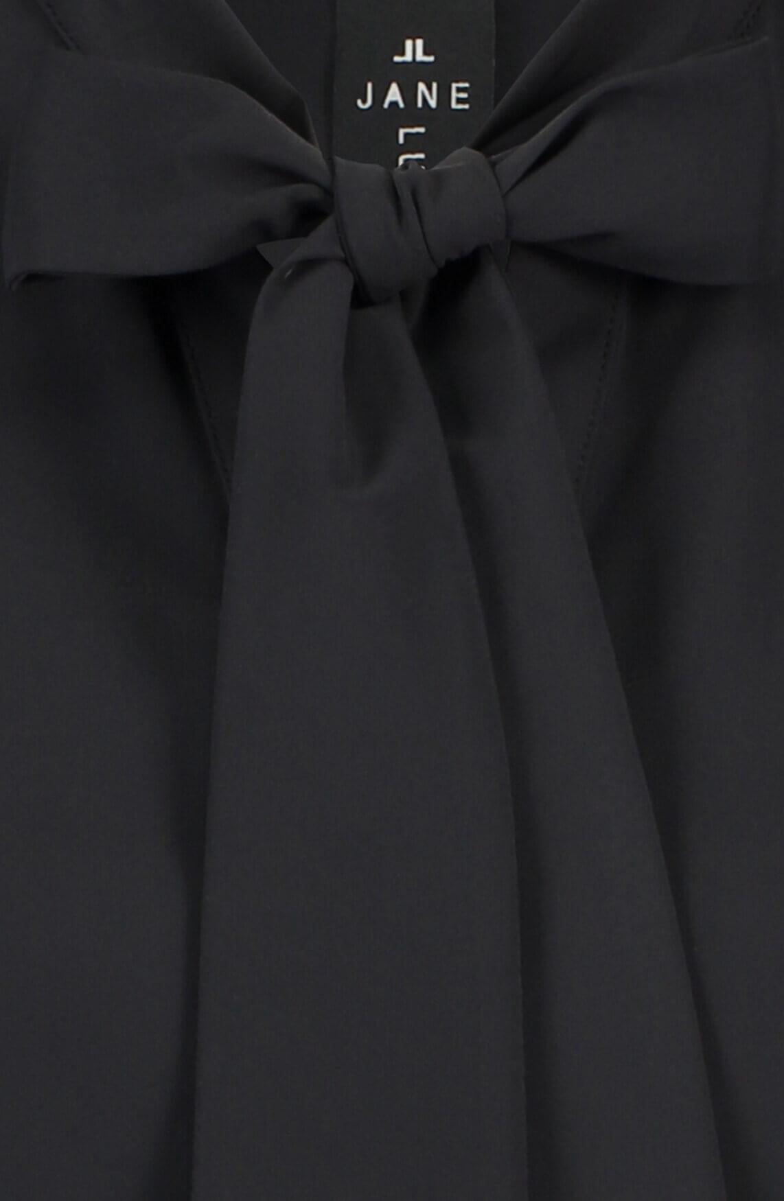 Jane Lushka Dames Corina strikblouse zwart