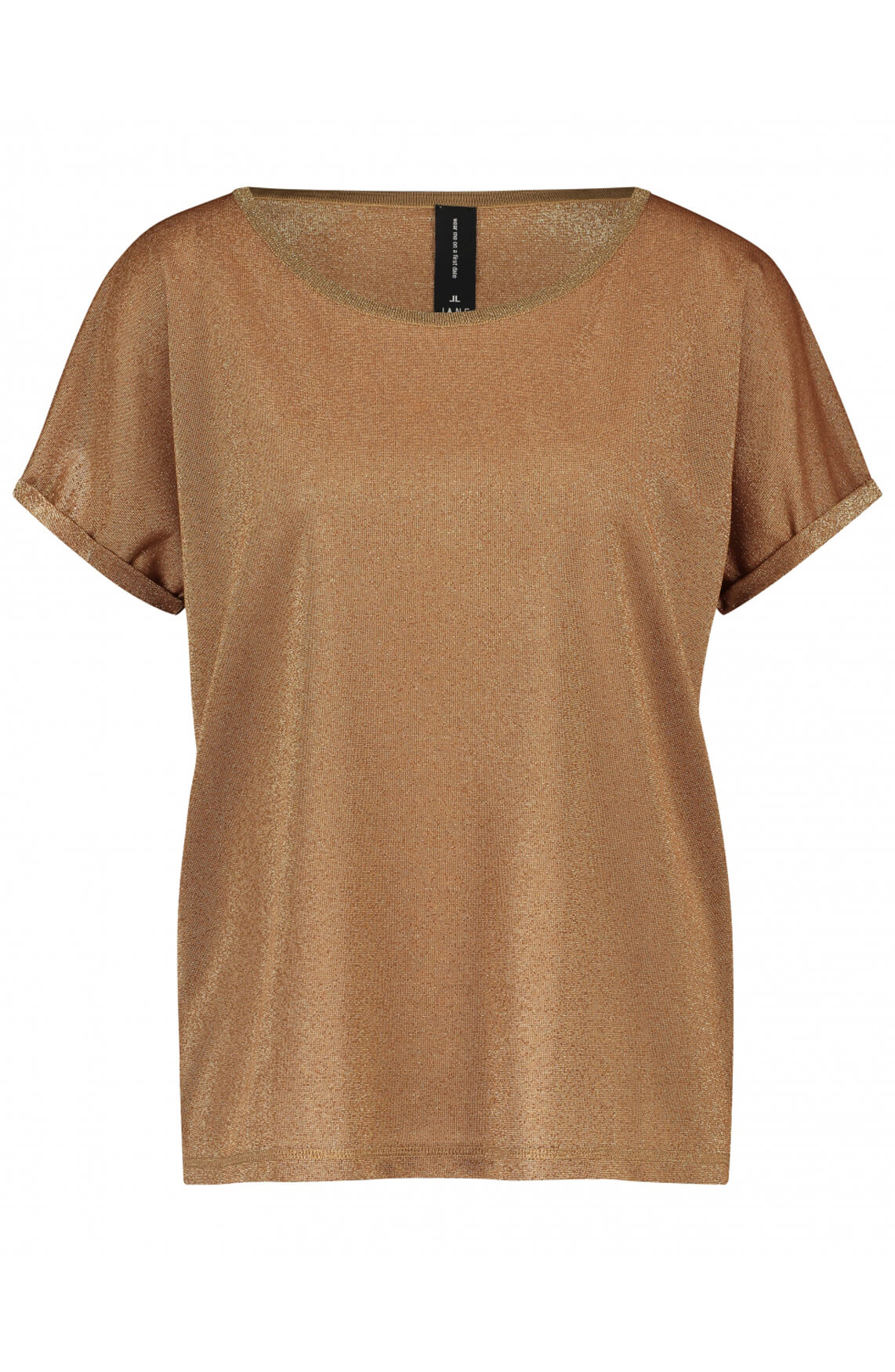 Jane Lushka Dames Hope glitter shirt Bruin
