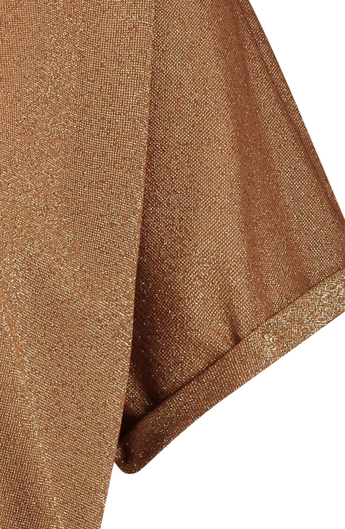 Jane Lushka Dames Hope glitter shirt Bruin
