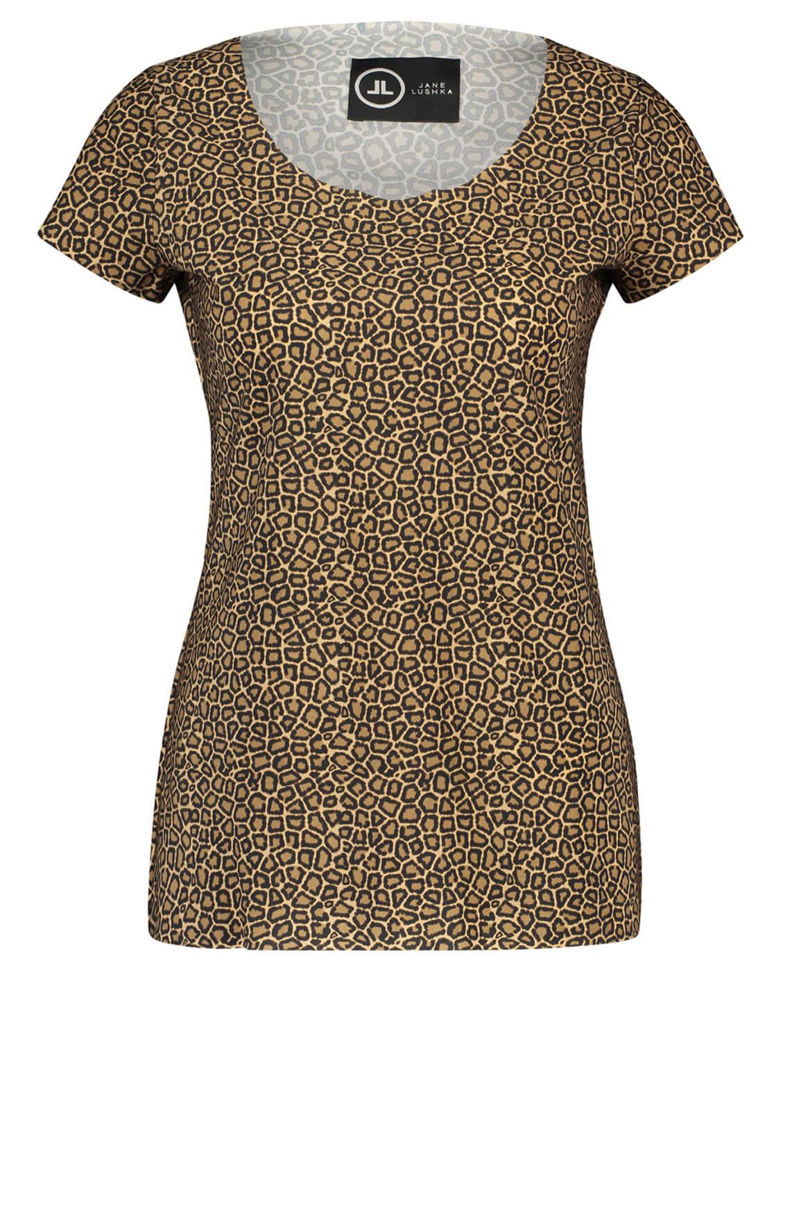 Jane Lushka Dames Panterprint shirt Bruin