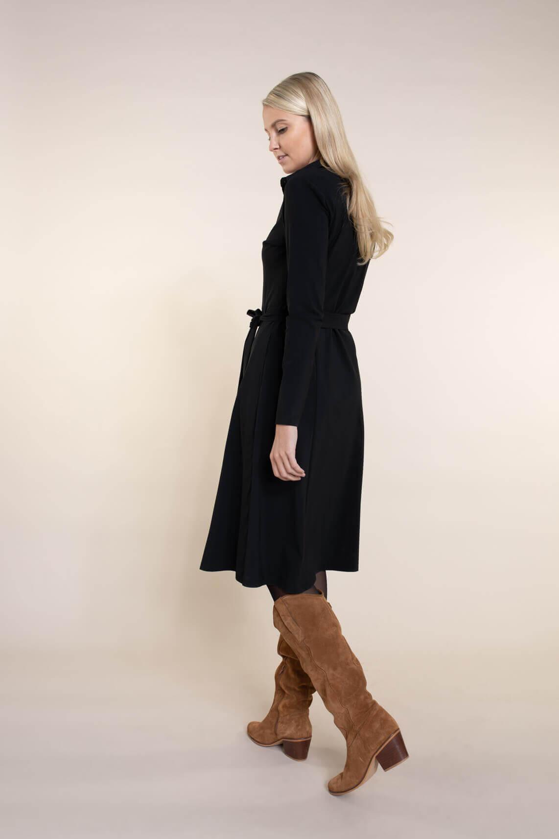 Jane Lushka Dames Barbara jurk zwart