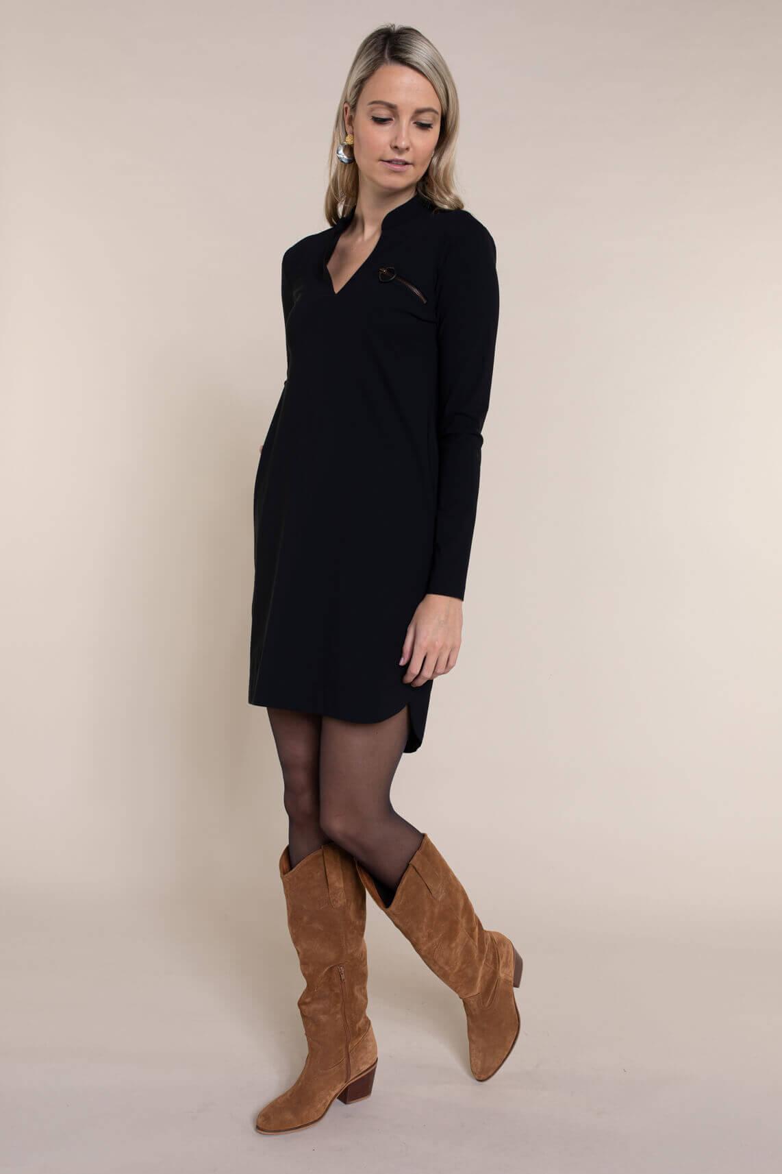 Jane Lushka Dames Gerrie jurk zwart