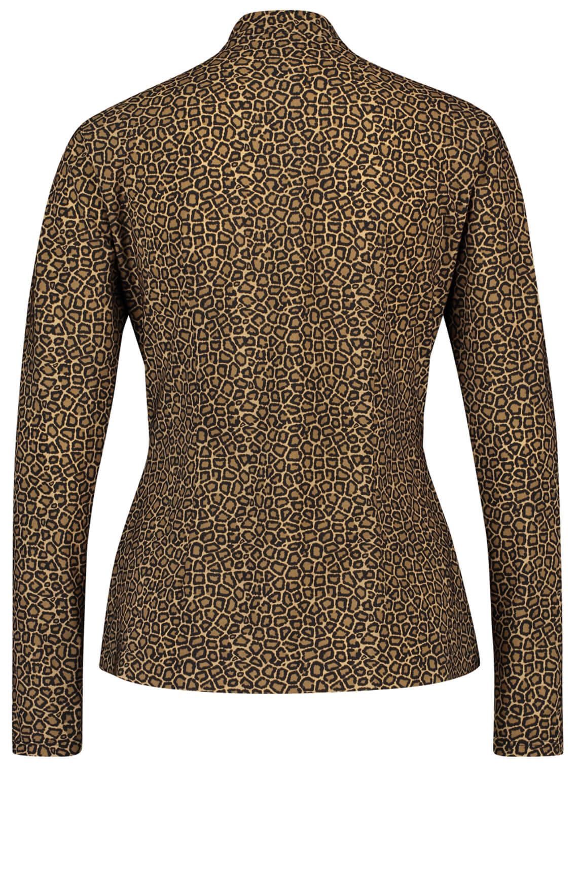 Jane Lushka Dames Panterprint blouse Bruin