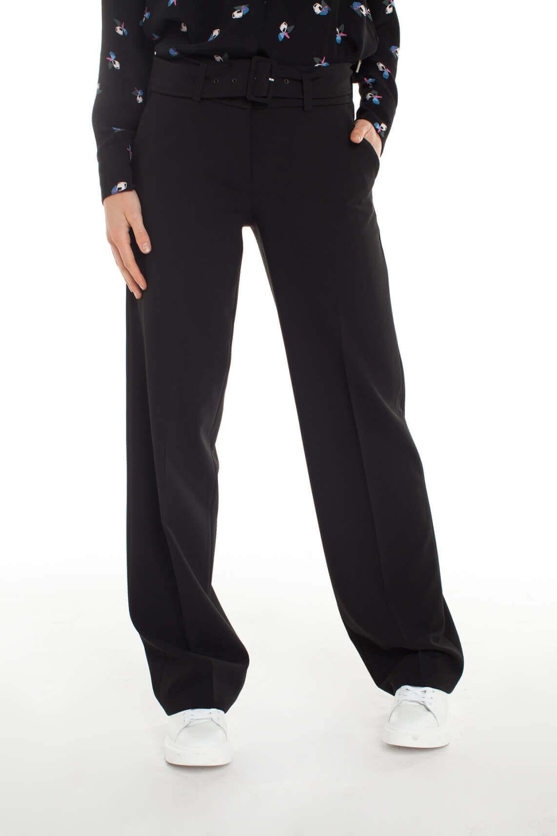 Cambio Dames Maurice wijde pantalon Zwart
