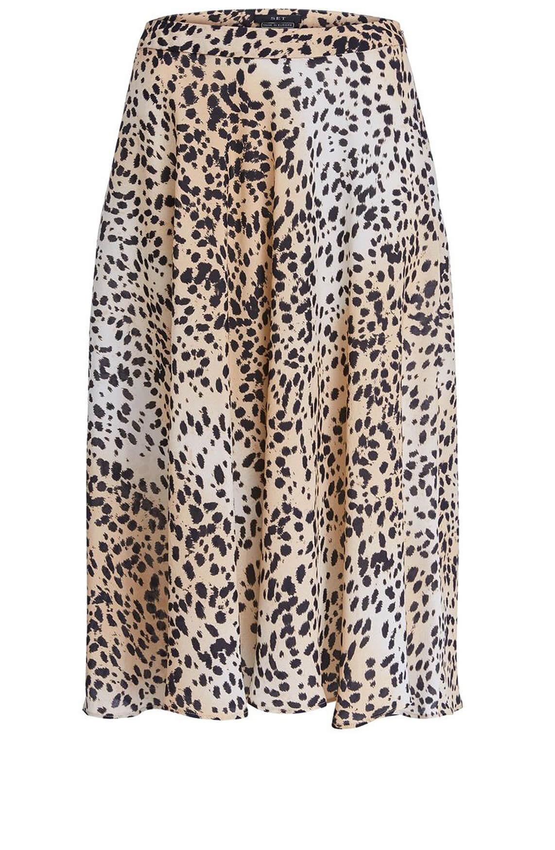 Set Dames Leopard rok zwart