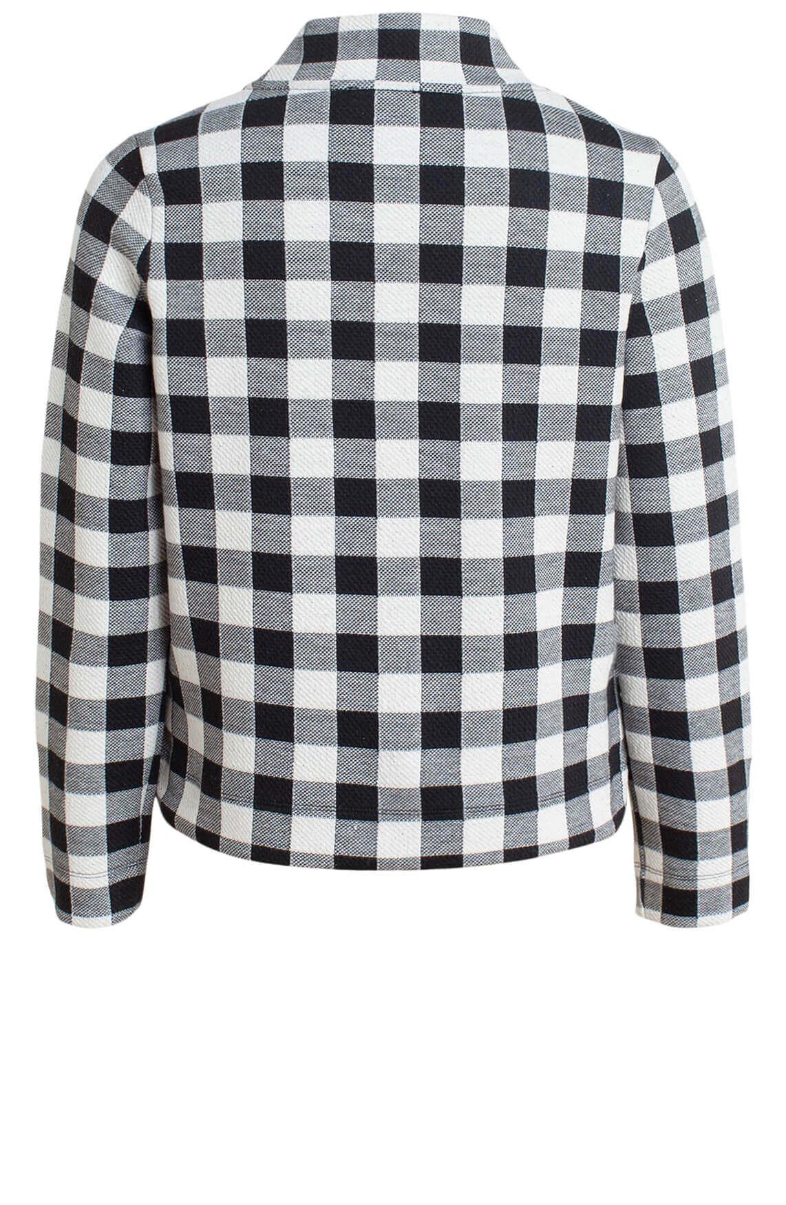Anna Dames Geruite sweater zwart