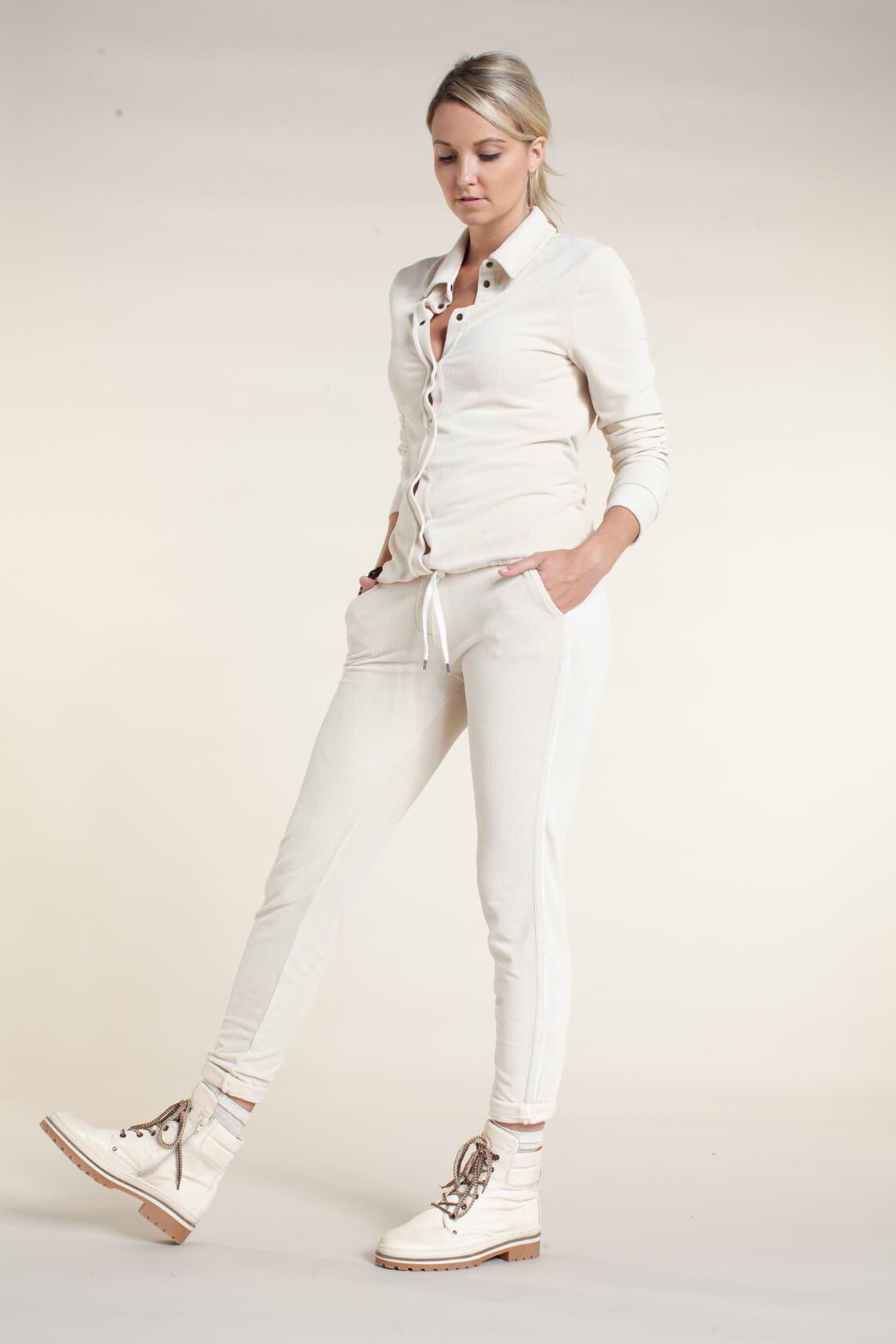 Anna Blue Dames Corduroy blouse Ecru