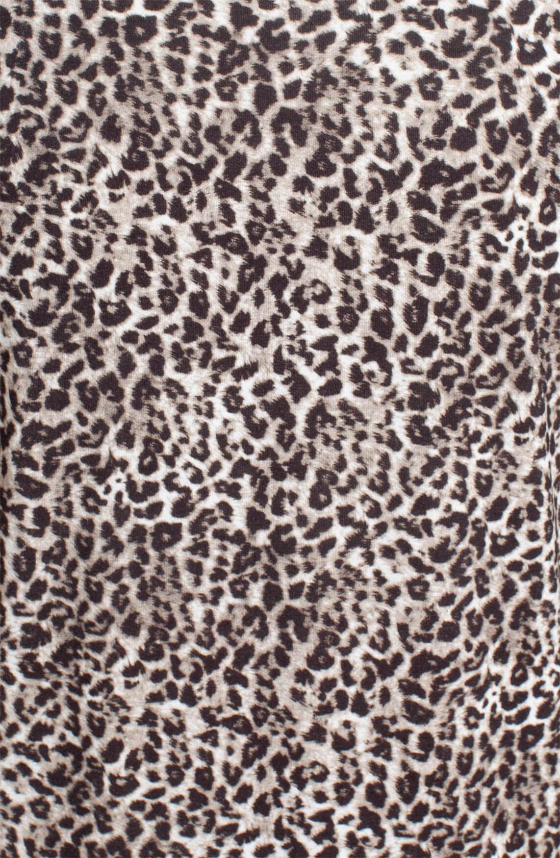 Anna Dames Shirt met knoop Bruin