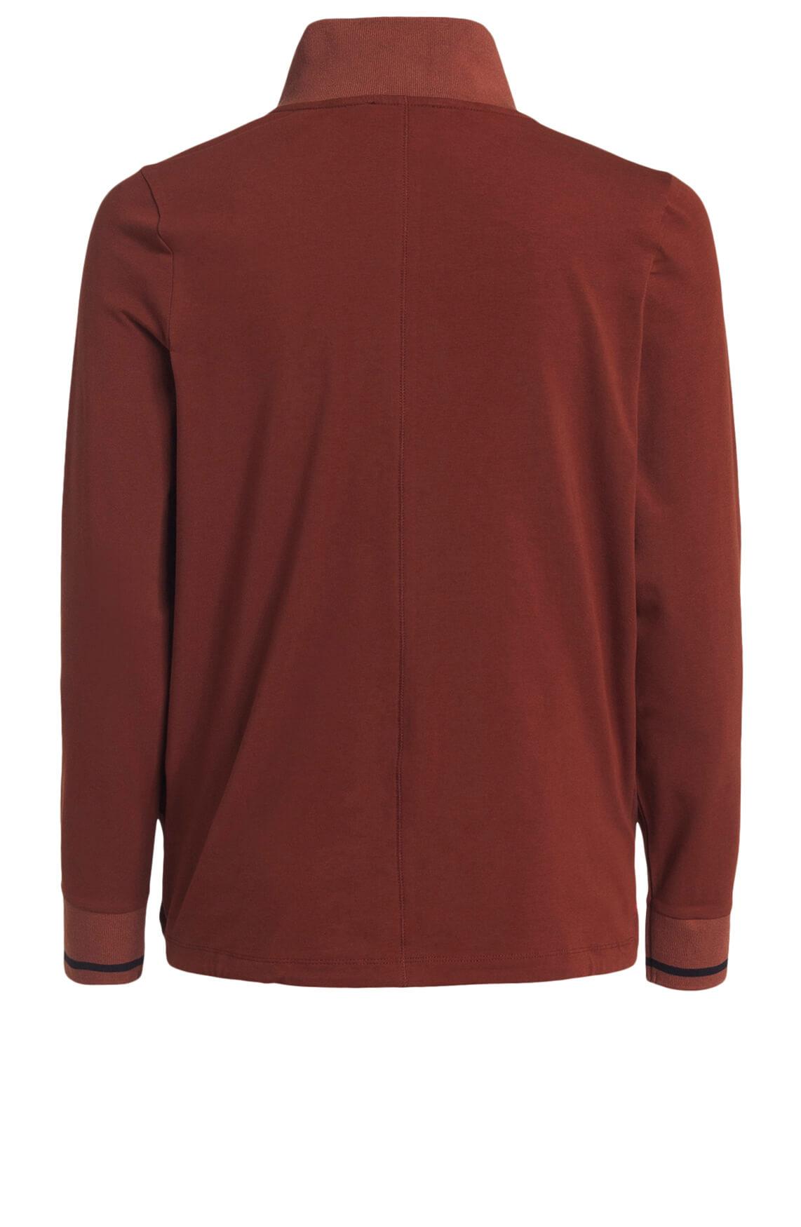 Anna Blue Dames Shirt met rits Rood