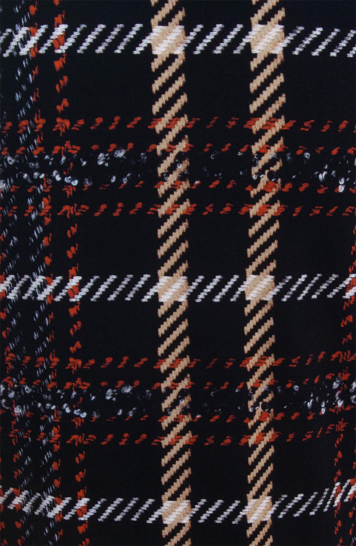 Anna Dames Geruit shirt zwart