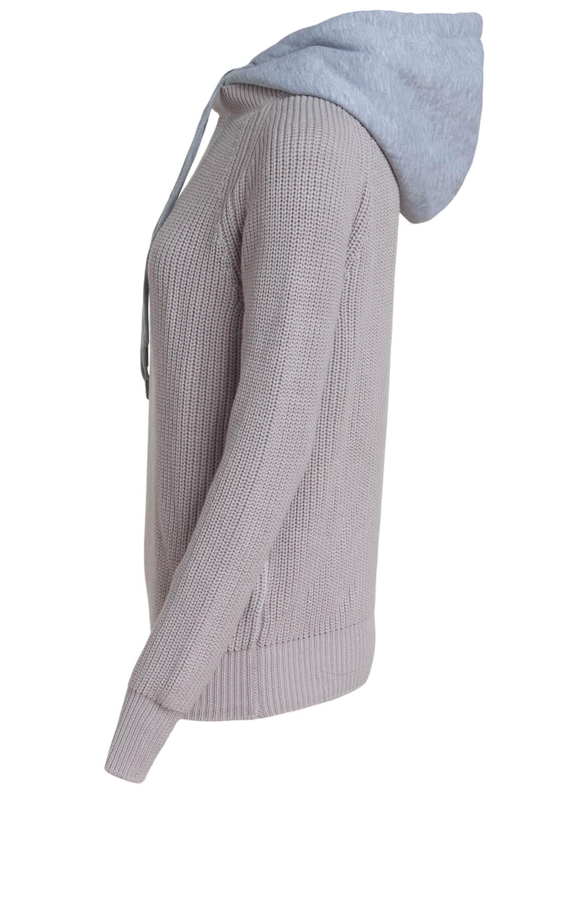 Anna Blue Dames Pullover met capuchon Ecru