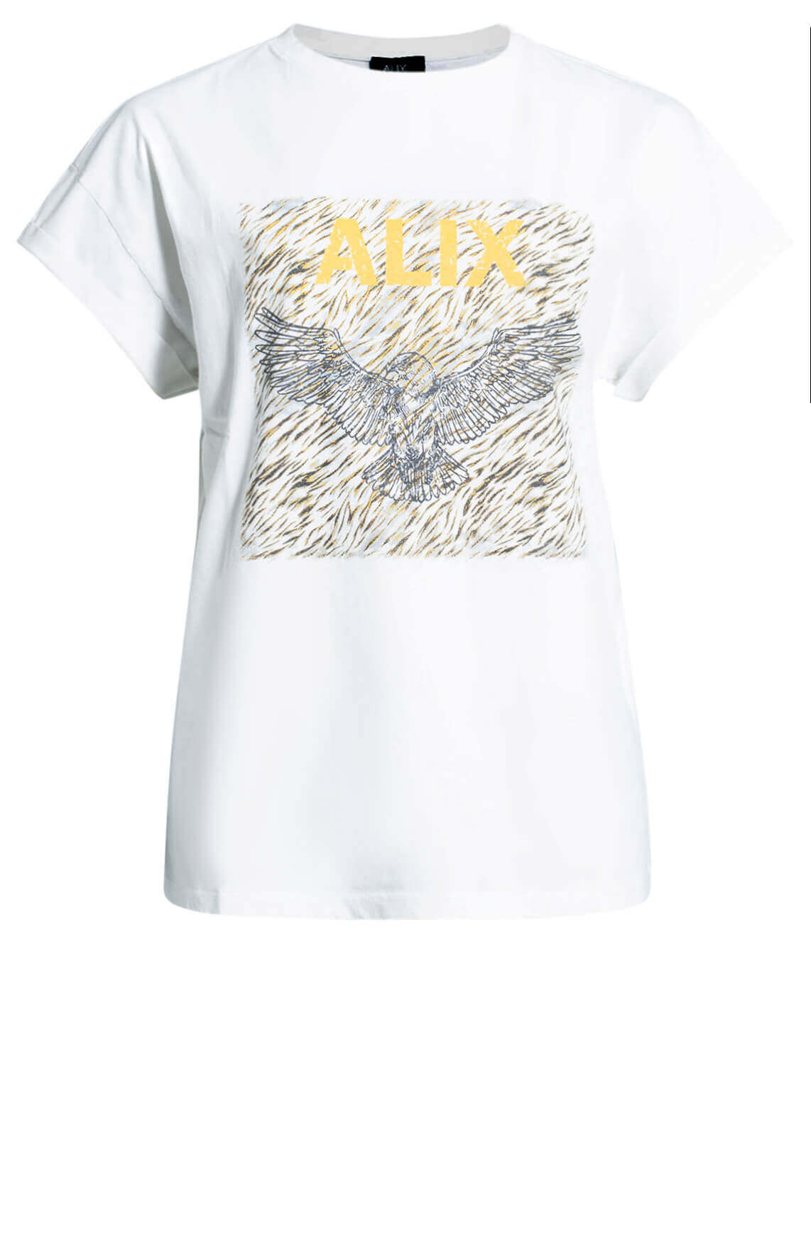 Alix The Label Dames Boxy eagle shirt wit