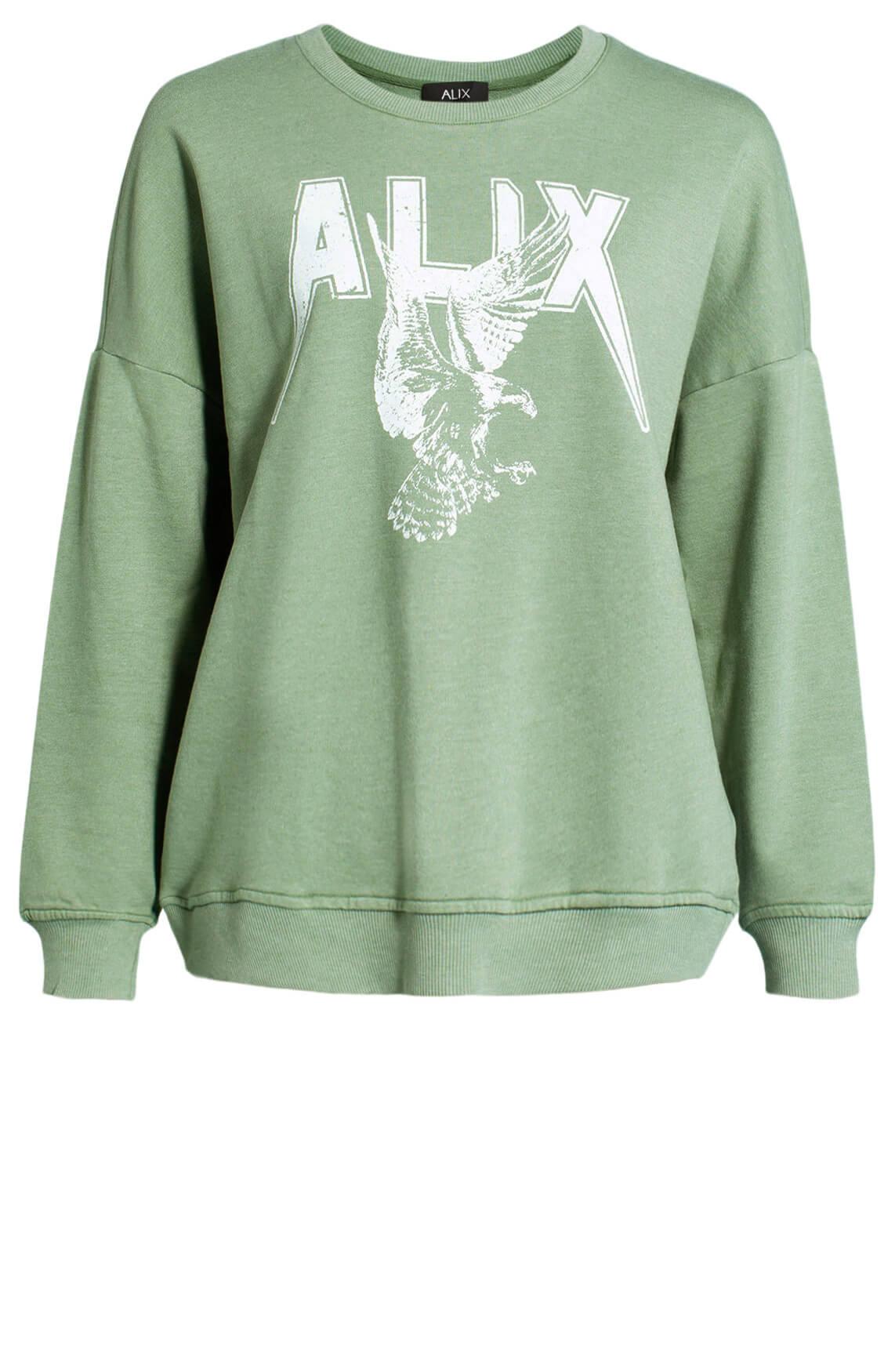 Alix The Label Dames Oversized sweater groen