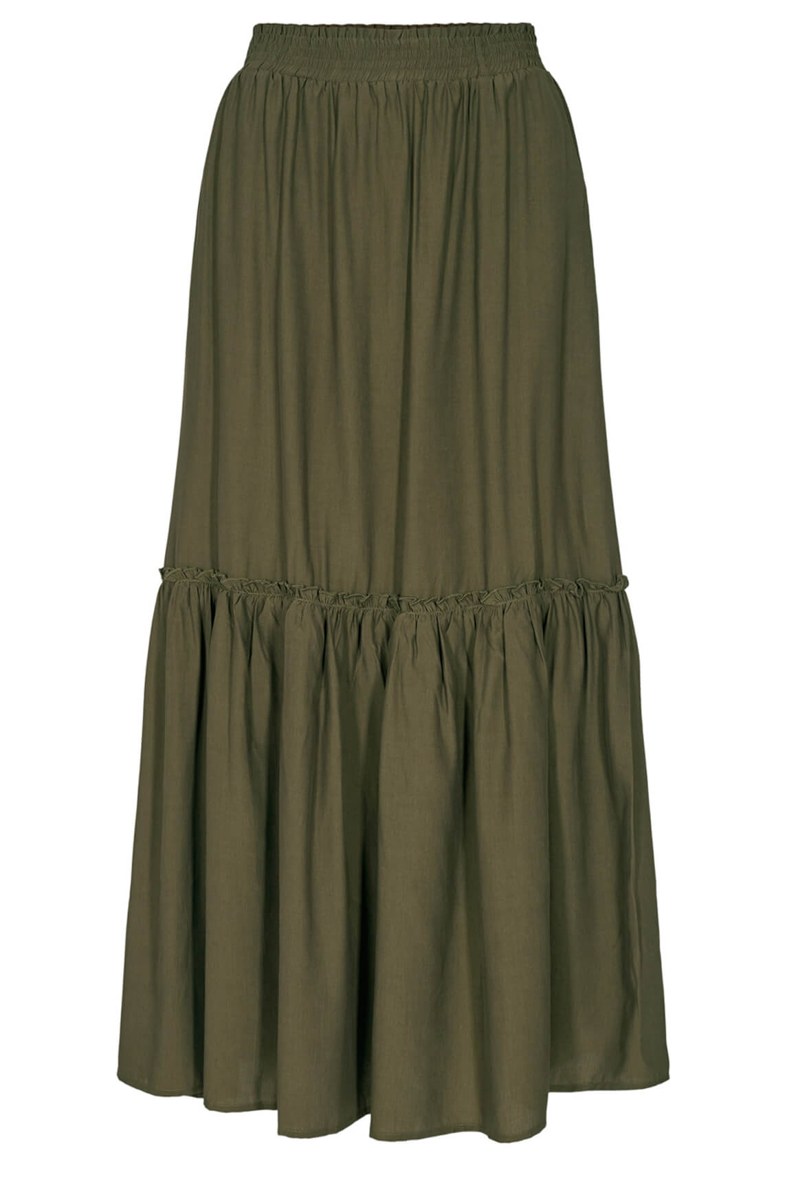 Co Couture Dames New Gipsy lange rok groen