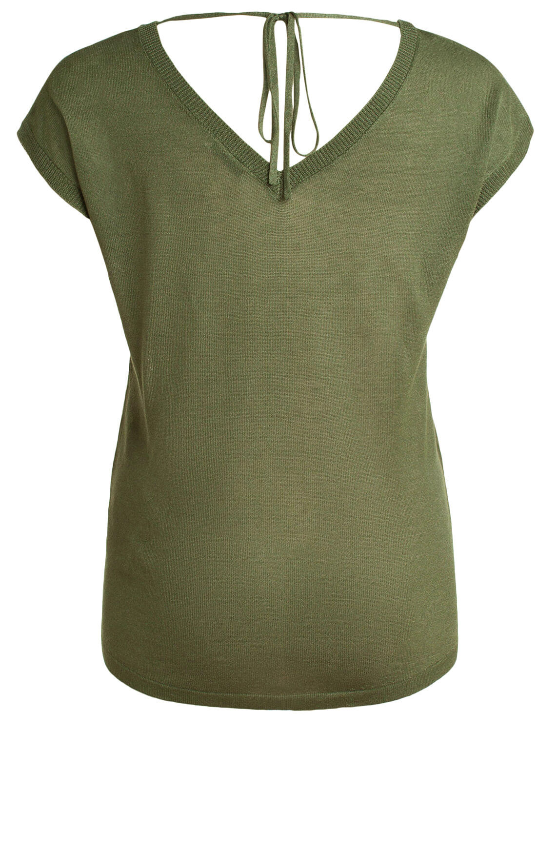 Anna Dames Shirt met strikdetail groen