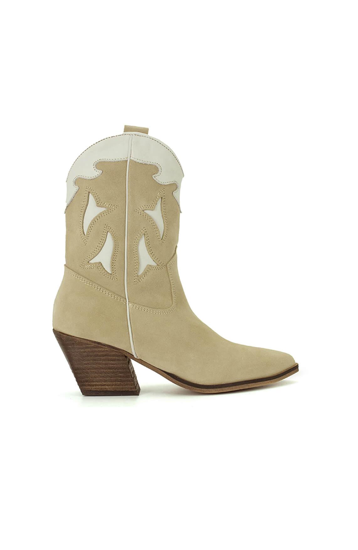 Deabused Dames Western boots Ecru