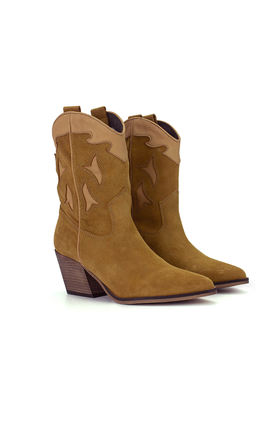 Deabused Dames Western boots Bruin