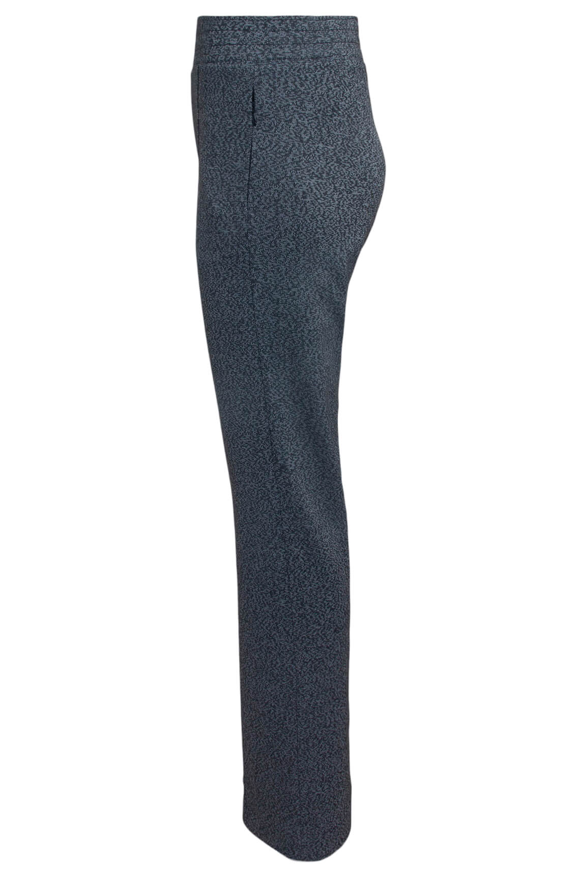 Anna Dames Gemêleerde broek zwart