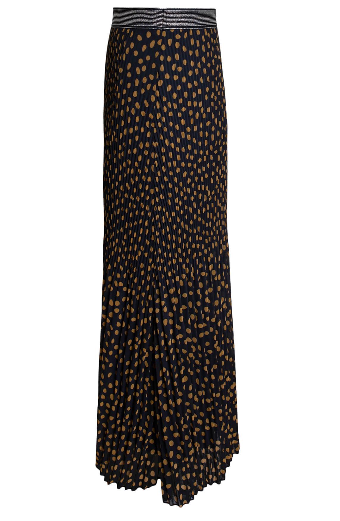 Anna Dames Maxi rok met stippen zwart