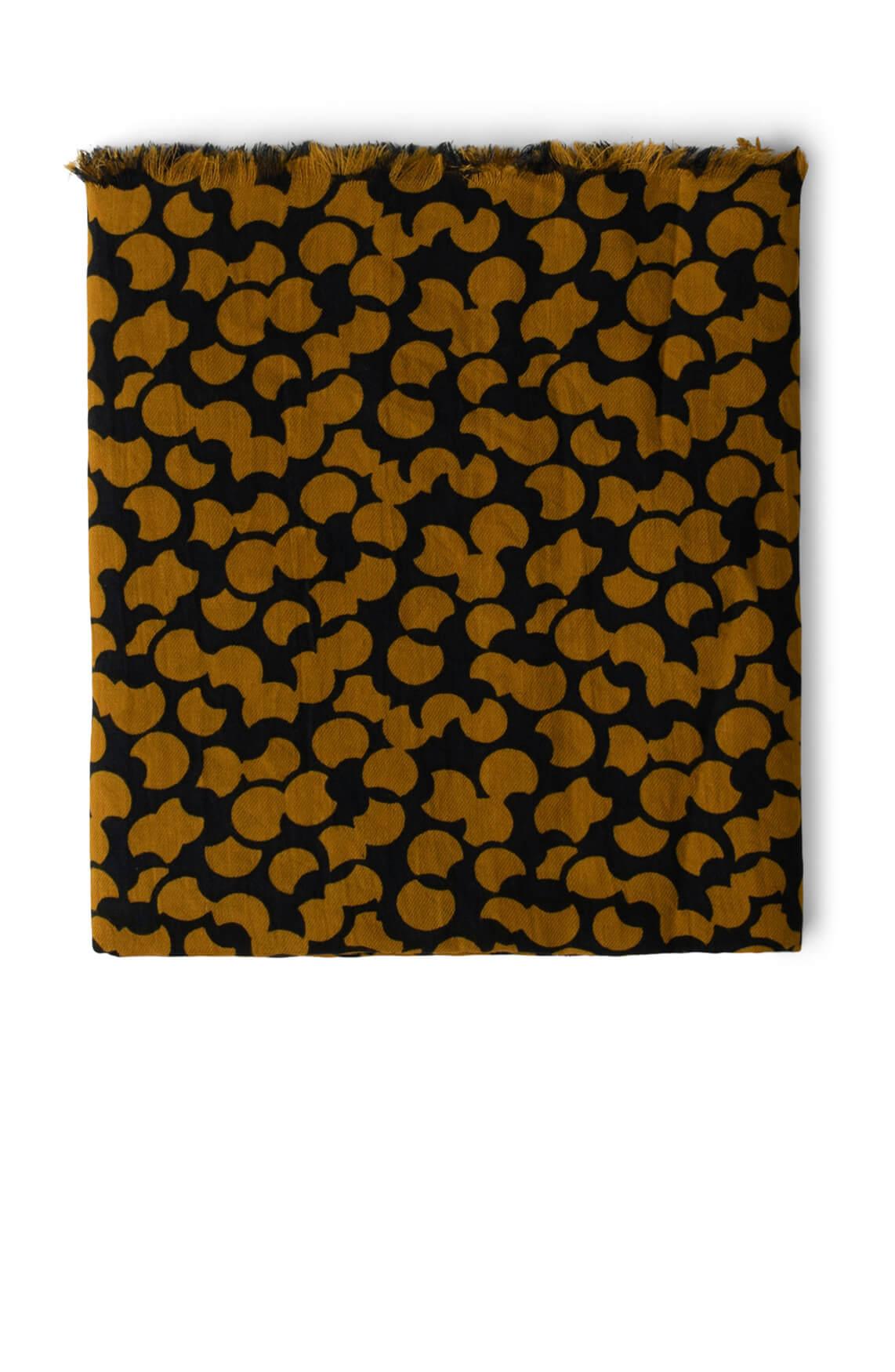 Anna Dames Shawl met dessin geel