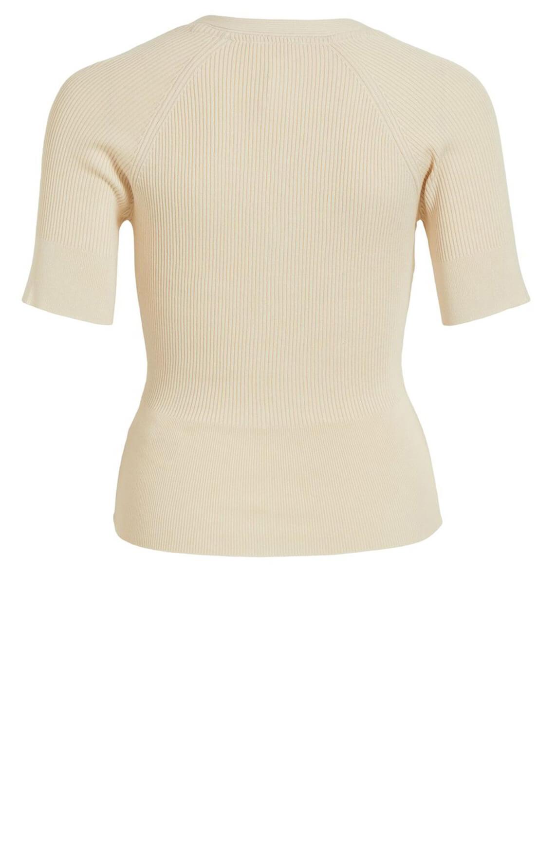 Object Dames Vera gebreid shirt Ecru