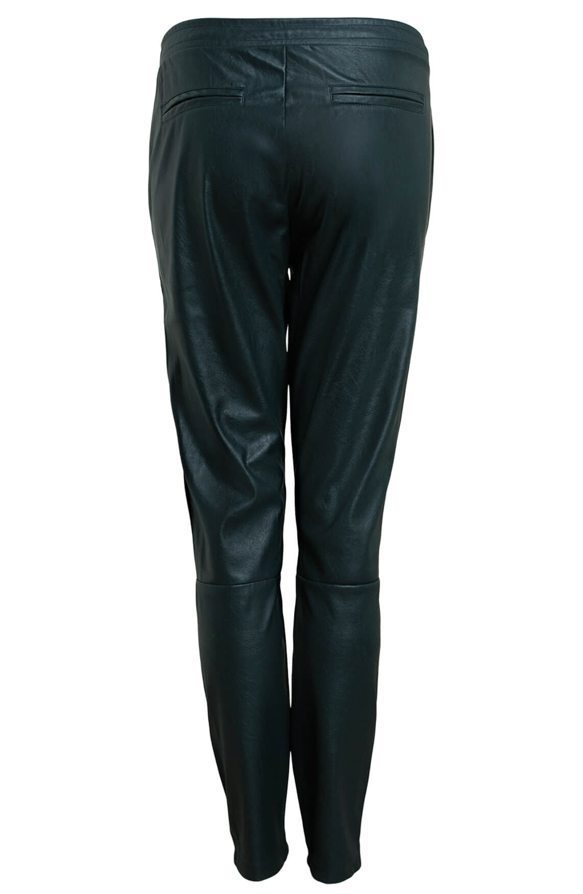 Anna Dames Fake leather broek groen