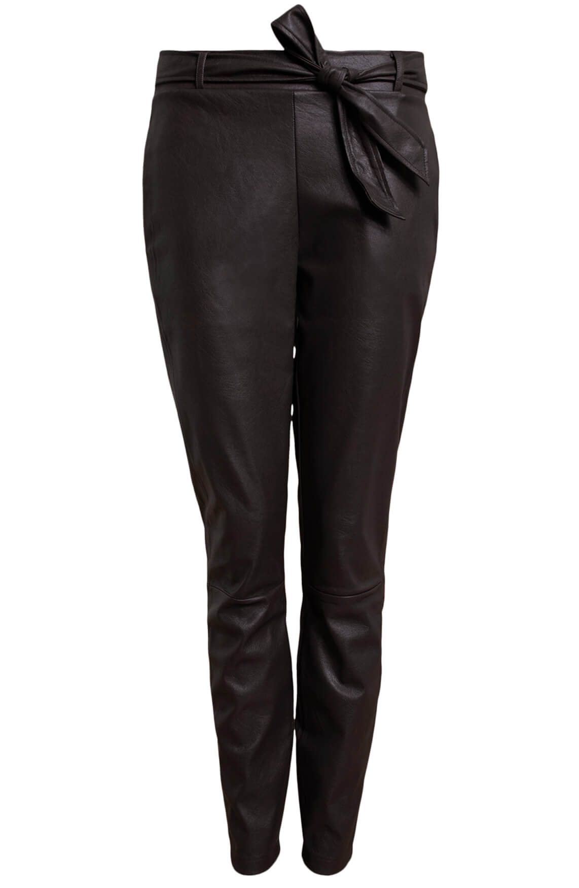 Anna Dames Fake leather broek Bruin