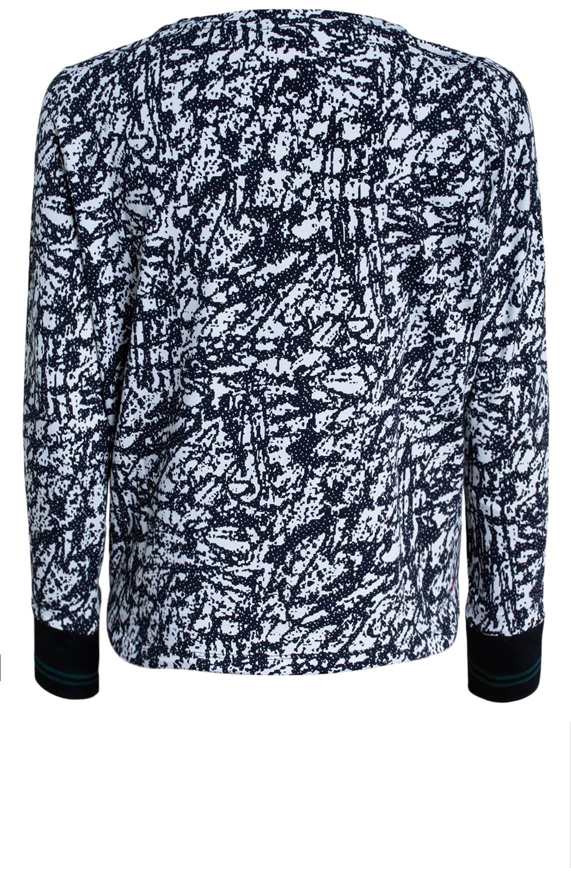Anna Dames Shirt met grafisch dessin zwart