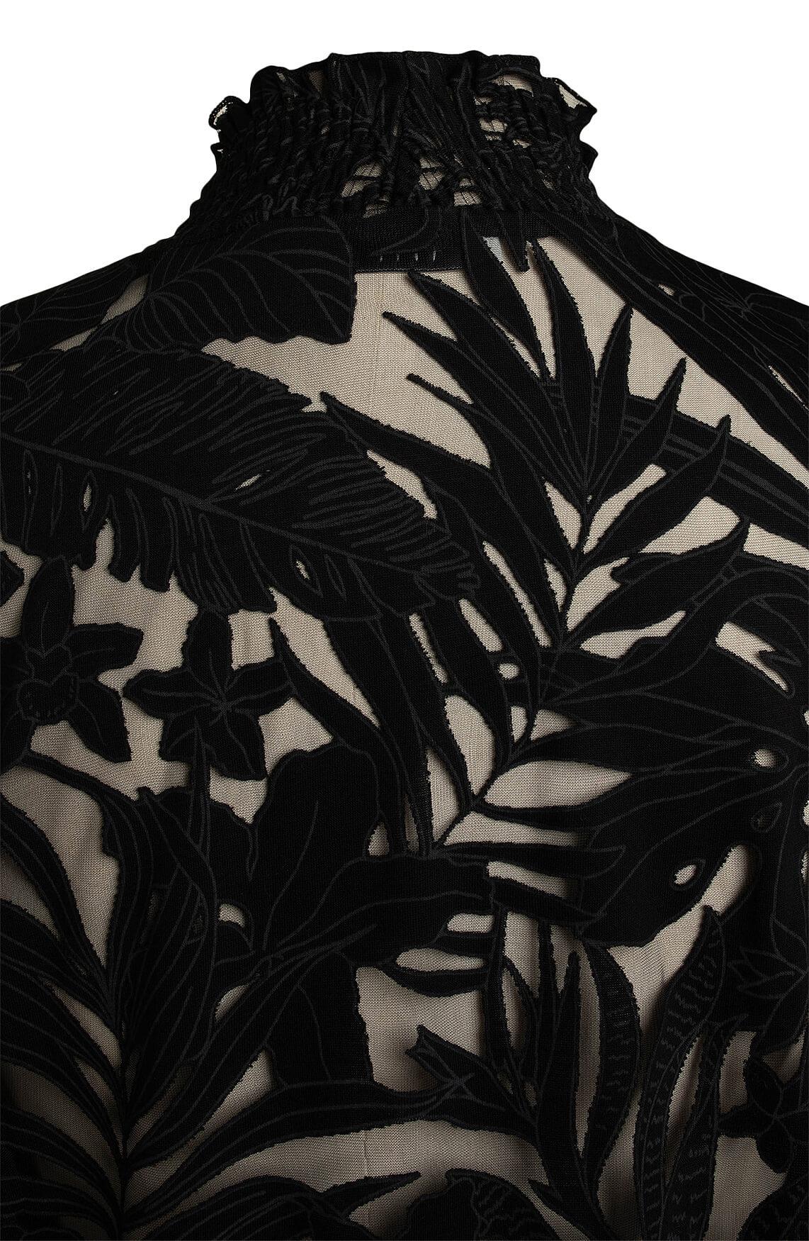 Anna Dames Blouse met mesh zwart