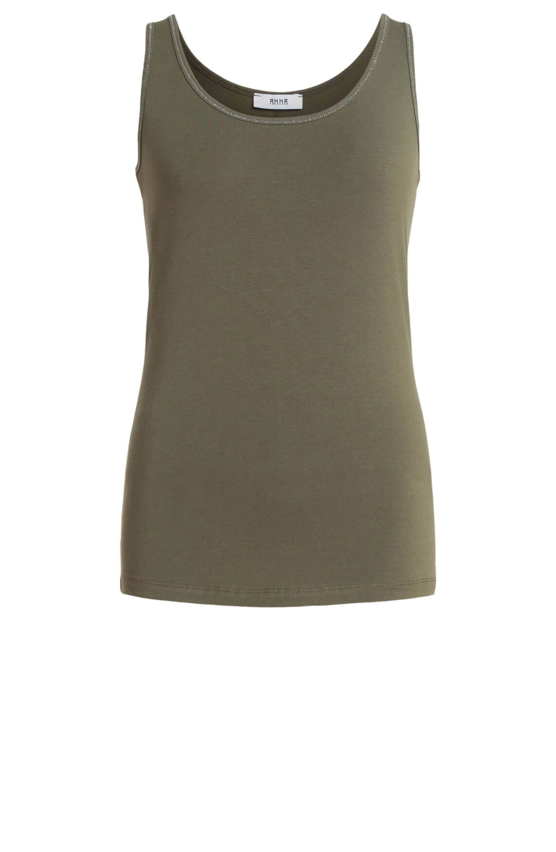 Anna Dames Top met lurex groen